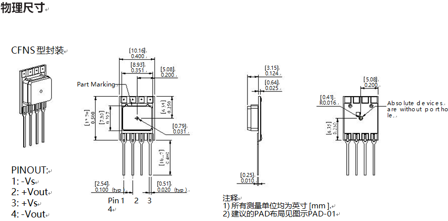 100mbar压力范围系列大气气压压力传感器