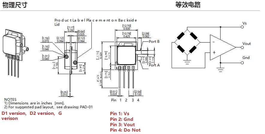 all sensors放大输出微型压力传感器mamp系列